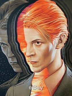L'homme Qui Est Venu Sur Terre Par Martin Ansin Mondo Affiche D'impression D'art Par David Bowie Reg