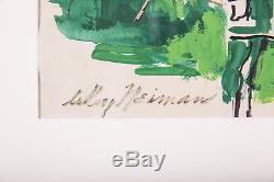 Leroy Neiman Original Authentique Peinture D'hôtel
