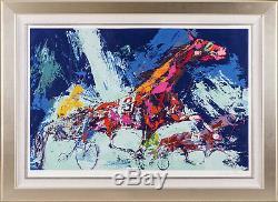 Leroy Neiman Trotters Horse Racing Limited Edition Signée Peinture Sérigraphie