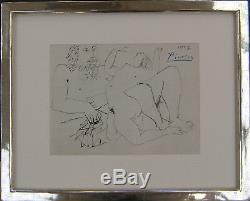 Lithographie De Picasso. Das Blatt Ist Handsigniert