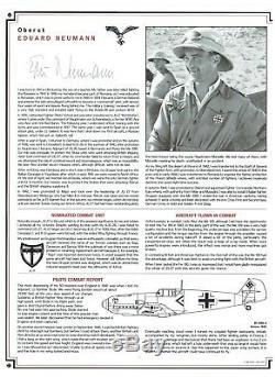 Luftwaffe Signé Profil Album 24 As Luftwaffe Inc Hartmann, Galland, Rall