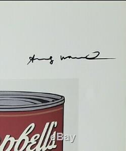 Main Andy Warhol Signé Le Certificat D'impression D'origine Coa 4450 $ L'an 1986