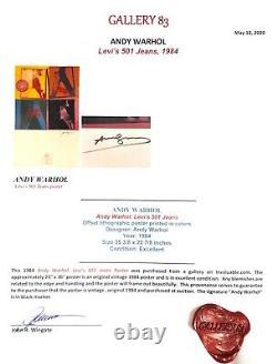 Main Signée Andy Warhol Affiche Un Haring & Basquiat Contemporain