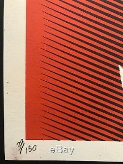 Malcolm X (orange) Shepard Fairey Signed / Numéroté Obey Géant