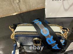 Marc Jacobs Snapshot Blue Sea Multi Small Camera Bag Logo Strap Crossbody