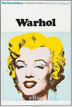 Marilyn Monroe Andy Warhol Exposition Vintage Originale Poster 1971 Excellent +
