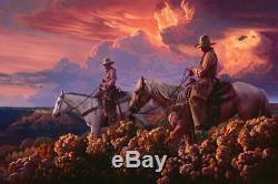 Mark Maggiori Cowboy De L'ouest En Édition Limitée Purple Haze Signé Fine Art