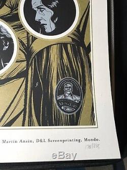 Martin Ansin Fiancée De Frankenstein Mondo Imprimer Affiche Du Film Monstres Universal