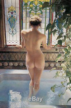 Matin Bath Steve Hanks Édition Limitée Fine Art 24 Giclée Toile