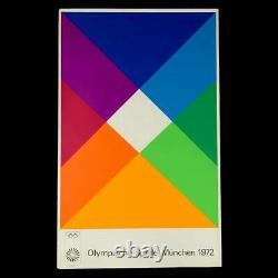Max Bill 1972 Affiche D'art Olympique De Munich 25 X 40 Édition Vintage 2