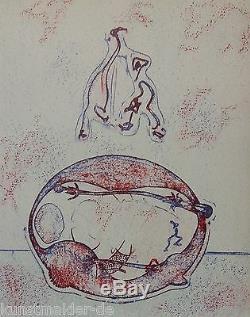 Max Ernst (1891-1976) Lithographie Originale 1971 (# 202) Après Moi, Le Xxe Siècle