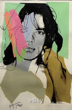 Mick Jagger Fs II Signé À La Main. 140 Par Andy Warhol