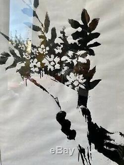 Mint Condition Framed Banksy Brut Impression Fleurs Produit Intérieur. Pas Rat