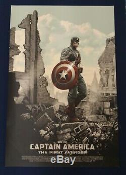 Mondo Captain America First Avenger Sdcc Par Rory Kurtz Affiche D'art Imprimer Rare