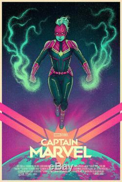 Mondo Captain Marvel Affiche Avec Impression De Variantes Jen Bartel XX / 325