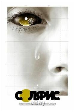 Mondo Solaris De Matthew Woodson Affiche Copie De Film Affiche Bdp Gold Cyrillic Variant