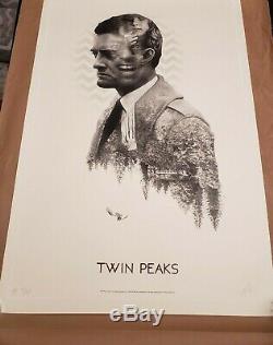 Mondo's Twin Peaks Sérigraphie-signée Et Numérotée # 8 Sur 40 En Main