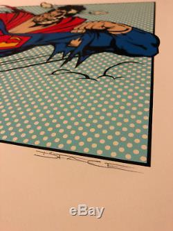 No More Heroes Dface Dface Blue - Affiche D'art De Rue, Impression 2010 Superman S / N