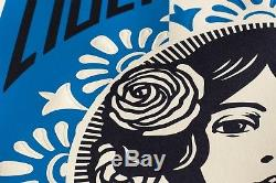 Nouveau Format Grand Format Obey Letterpress Signé Shepard Fairey Liberte Egalite Estampe