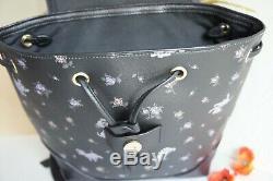 Nwt Coach 91127 Disney X Dalmate Imprimer Elle En Cuir Sac À Dos Black Multi 428 $
