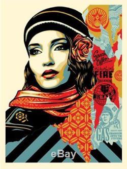 Obey Fire Poster Print Affiche Shepard Fairey Edition De 550 Signés Et Numérotés