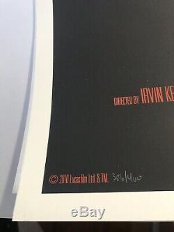 Olly Moss Star Wars L'empire Contre-attaque Mondo Imprimer Affiche D'art De Film Esb Ltd