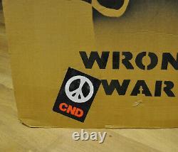 Original Banksy'wrong War' Grin Reaper Iraq War Demonstration Placard C. 2003