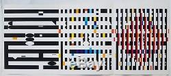 Original Yaacov Agam (né En 1928 À New York, France) Sérigraphie Sérigraphie Triptyque 1971