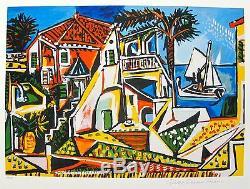 Pablo Picasso Mediterranee Paysage Limited Edition Signée Par La Succession Art Giclee