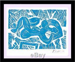 Pablo Picasso Nudité Couchée Avec / Coa (édition Non Encadrée), Édition Signée À La Main