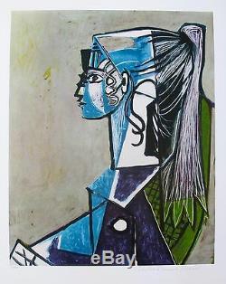 Pablo Picasso Portrait De Sylvette Limited Edition Signée Par La Succession Giclee Art