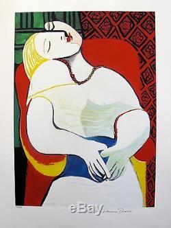 Pablo Picasso Rêve Limited Edition Signée Par La Succession Art Giclee 26 X 20