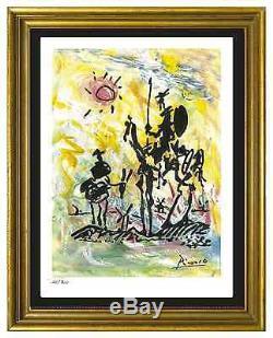 Pablo Picasso Signé / Numéroté À La Main Ltd Ed Don Quichotte Lithographie (non Encadrée)