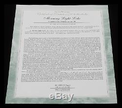 Papier De Thomas Kinkade Morning Light Edition 18 X 27 S / N Édition Limitée