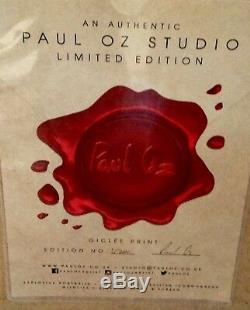 Paul Oz'queen Jack 'giclée En Édition Limitée Signée, Encadrée, Avec Certificat D'authenticité