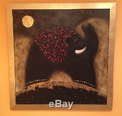 Peinture Originale Sur Toile D'éléphant Huile Sur Toile De Govinder Nazran