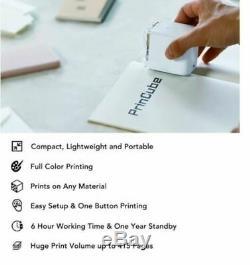 Princube-la Couleur Mobile World Plus Petite Imprimante