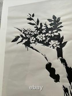 Produit Intérieur Brut Banksy Flower Thrower Limited Edition Screen Print Pow