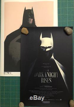 Rare 2 X Origine Olly Moss Mondo Le Chevalier Noir Se Lève Et Impressions De Manchots Batman