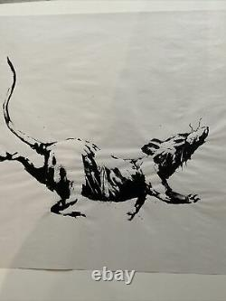 Rat Produit Intérieur Brut Non Signé Banksy Édition Limitée Avec Parking Rece