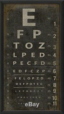 Restauration Vintage Eye Chart Letters Museum Quality Hardware Industriel $ 185