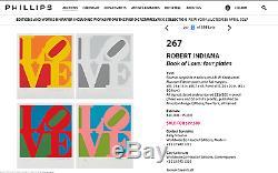 Robert Indiana Heliotherapy Sérigraphie Amour Signée Numérotée Encadrée Jklfa. Com