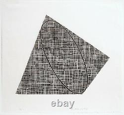 Robert Mangold Sans Titre, 1989-1990. Signé, Numéroté, Gravure Sur Bois, Gravure Sur Beaux-arts