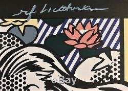 Roy Lichtenstein Signé Nude À La Main Avec Oreiller Jaune Imprimé Avec C. O. A