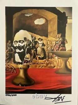 Salvador Dali 1974 Original Print Hand Signé Avec Certificat. Revente 5 750 $