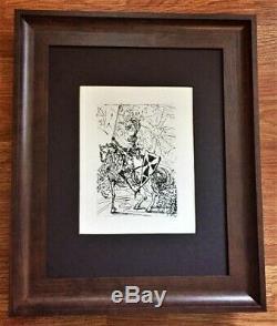 Salvador Dali Gravure Originale Signée (1960) Avec Certificat D'authenticité