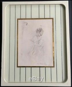 Salvador Dali (artiste) Portrait Imprimer Inscrit À Marx Harpo