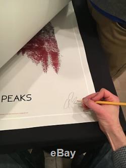 Sérigraphie Twin Peaks De Mondo Signée Et Numérotée XX / 30 (primaire / Noire)