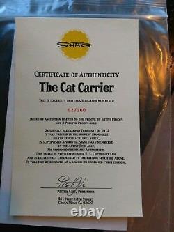Shag Josh Agle The Cat Carrier Signé Et Numéroté Imprimer Avec Coa