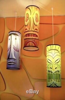Shag Josh Agle Tiki Hanging Pendant Lamp Combo Set Imprimer Mint Art Serigraph Coa